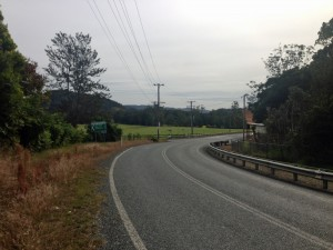 Upper Orara Road turnoff